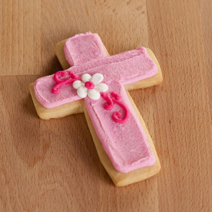 Pink Cross Cut-Out Cookie