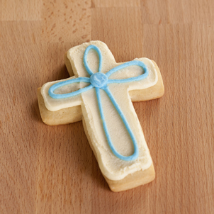 Blue Cross Cut-Out Cookie