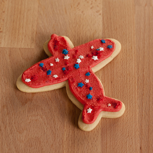 Airplane Cut-Out Cookie