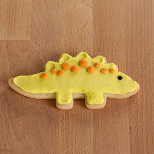Yellow Dinosaur Cut-Out Cookie