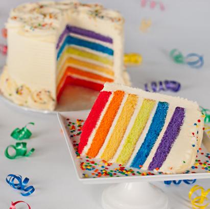 """Rainbow Cake- 10"""" Double Round"""