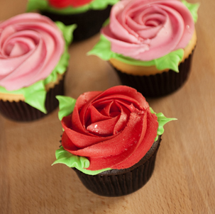 Rosette Decorated Cupcake