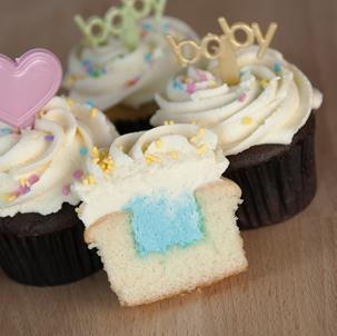 Gender Reveal Cupcake with Picks