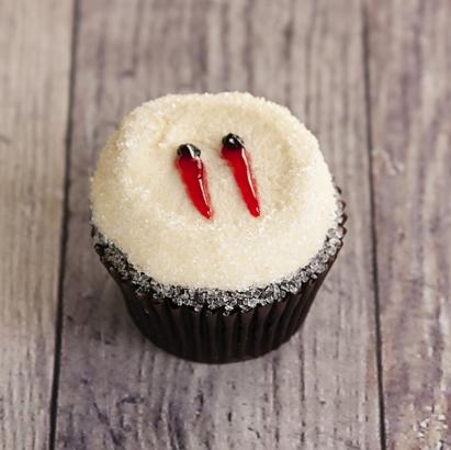 Vampire Bite Decorated Cupcake