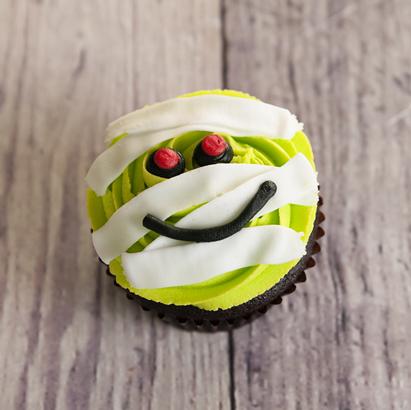 Mummy Decorated Cupcake