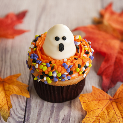Ghost Decorated Cupcake