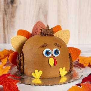 3D Turkey Shaped Cake