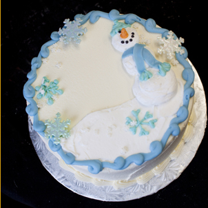 "Snowman - 12"" Single Round"