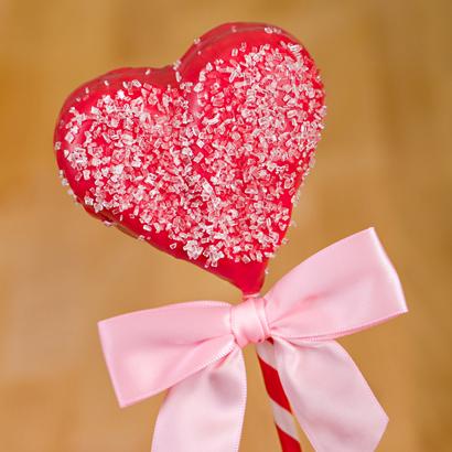 Red Heart Brownie Pop