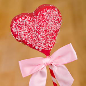 Red Heart Brownie Pop