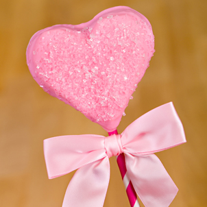 Pink Heart Brownie Pop