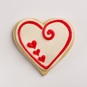 Swirl Heart Valentine Cookie