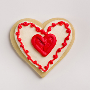 Trimmed Heart Valentine Cookie