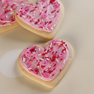 Simply Frosted Heart Cookies