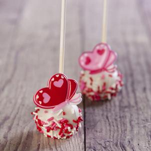 Vanilla Cake Pop - Valentine- 1/2 Dozen