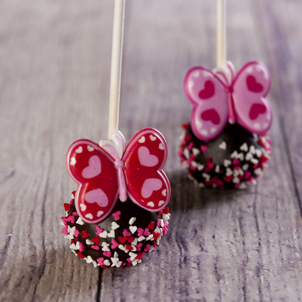 Chocolate Cake Pop - Valentine- 1/2 Dozen