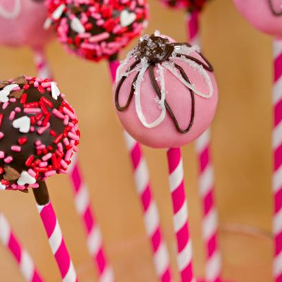 Strawberry Cake Pop-Valentine- 1/2 Dozen