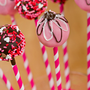 Strawberry Cake Pop-Valentine- 1/2 Dozen