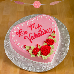 """Rose Swirls- 8"""" Single Heart"""