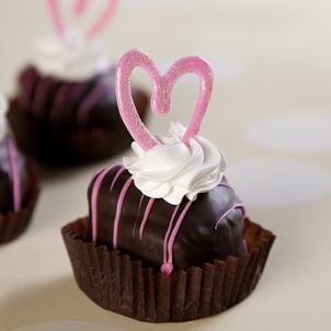Chocolate Heart Cakelet- 1/2 Dozen