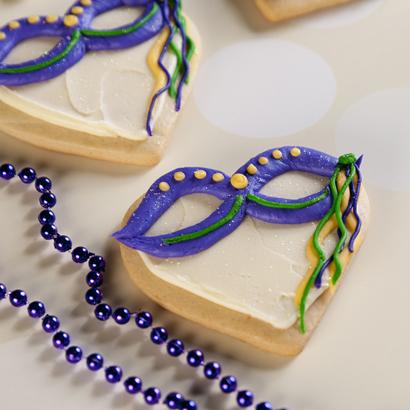 Mardi Gras Mask Cookie