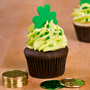 Shamrock Decorated Cupcake