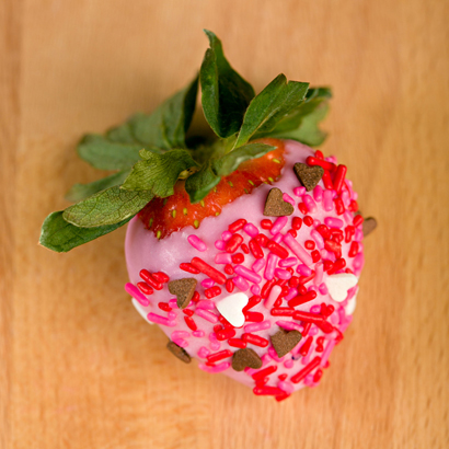 Pink Sprinkles Covered Strawberry