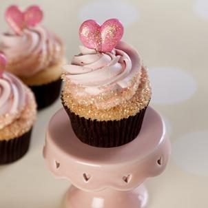 Strawberry Champagne Gourmet Cupcake