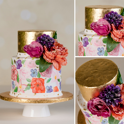 Flora Wedding Cake