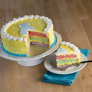 Easter Rainbow Dessert Cake