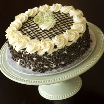 Dark Chocolate Irish Cream Dessert Cake