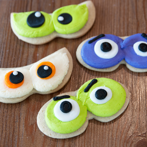 Spooky Eyes Cut-Out Cookie