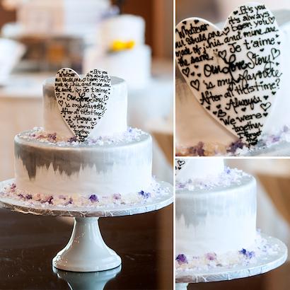 Iris Wedding Cake