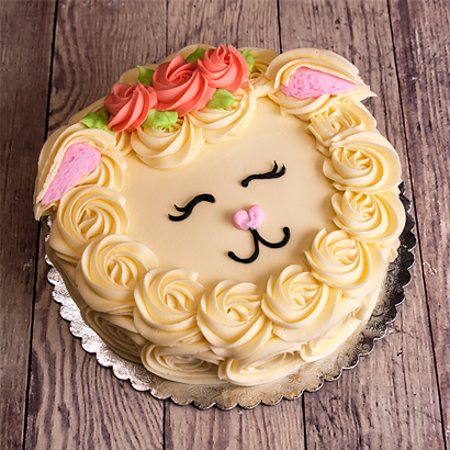 "Lamb Face Cake 6"" Single Round"
