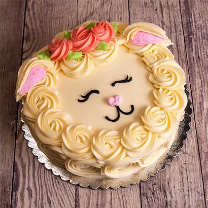 "Lamb Face Cake 10"" Double Round"