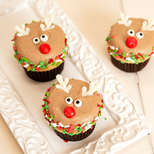 Rudolph Decorated Cupcake