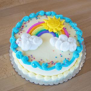 "Sunshine Rainbow- 6"" Double Round"