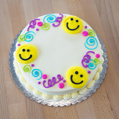"""Smiley Faces & Swirls- 6"""" Double Round"""