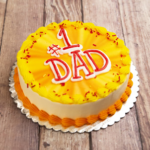 """Number One Dad- 8"""" Single Round"""