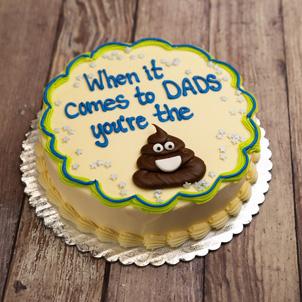 "Poop Emoji Dad- 6"" Double Round"