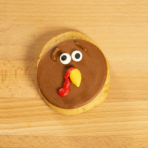 Turkey Decorated Cookie Round