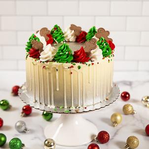 Christmas Rosette Drip Cake