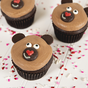 Brown Bear Decorated Cupcake