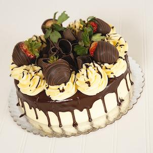 Chocolate Covered Strawberry Dessert Cake