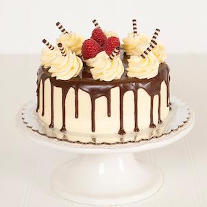 "Dark Chocolate Raspberry Dessert Cake- 6"""