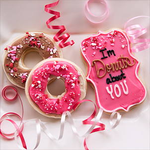 Valentine Cookie Set- Donuts About You