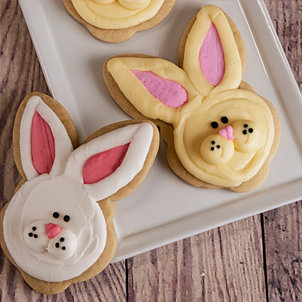 Bunny Face Cut-Out Cookie