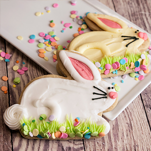 Bunny Hop Large Cut-Out Cookie