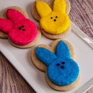 Bunny Peeps Cut-Out Cookie
