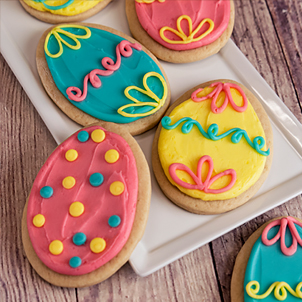 Easter Egg Cut-Out Cookie